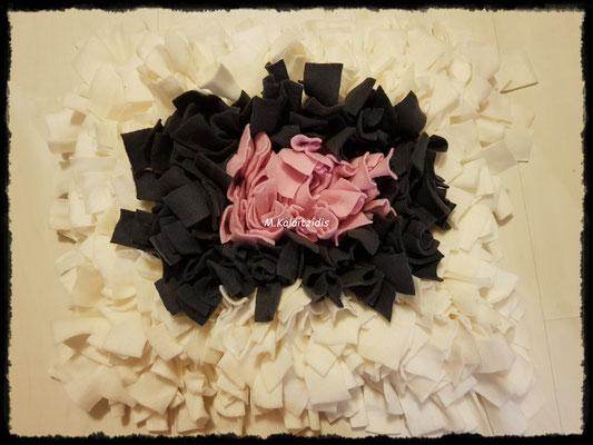 Motiv: Viereck - Größe M - Rosa-Grau-Weiß