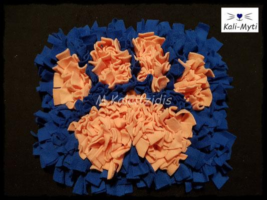 Motiv: Pfote - Größe M - Lachs auf Blau