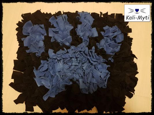 Motiv: Pfote - Größe L - Blau auf Schwarz