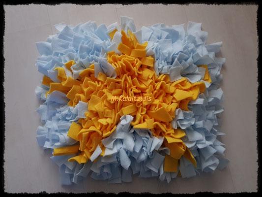 Motiv: Stern - Größe M - Gelb auf Hellblau
