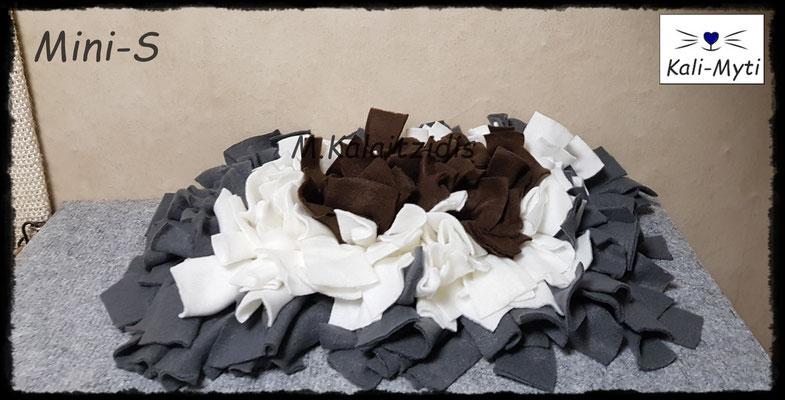 Motiv: Viereck - Größe S - Braun-Weiß-Grau