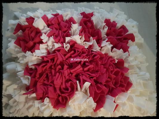 Motiv: Pfote - Größe L - Pink auf Weiß