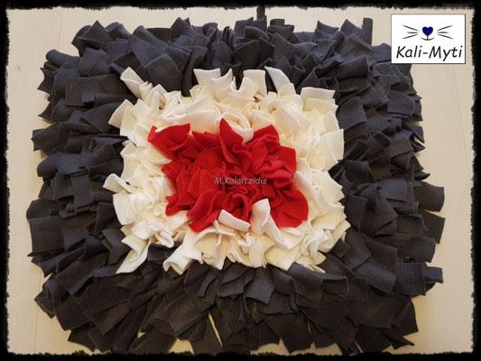Motiv: Viereck - Größe M - Rot-Weiß-Grau