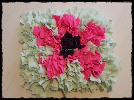 Motiv: Blume - Größe M - Lila/Pink auf Mintgrün