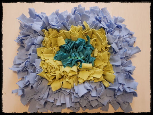 Motiv: Viereck - Größe M - Türkis-Apfelgrün-Hellblau