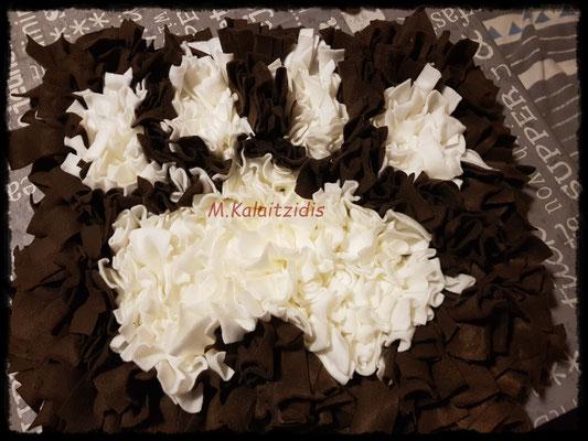 Motive: Pfote - Größe L - Weiß auf Braun