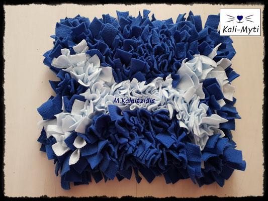 Motiv: Knochen - Größe M - Hellblau auf Blau