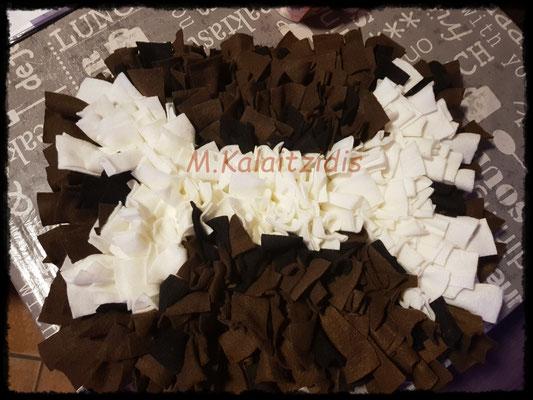 Motiv: Knochen - Größe M - Weiß auf Braun