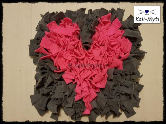 Motiv: Herz - Größe M - Pink auf Grau