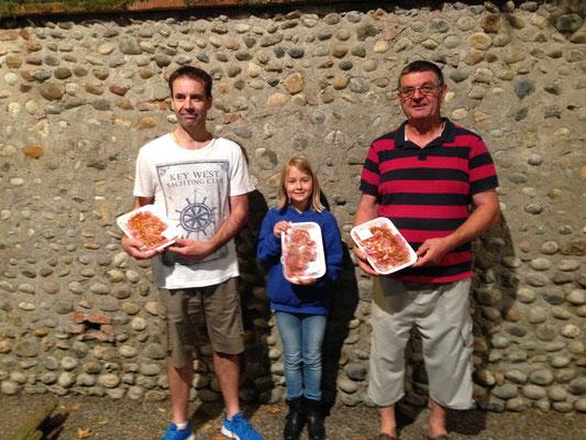 Le trio vainqueur : Eric / Lison / Patrick