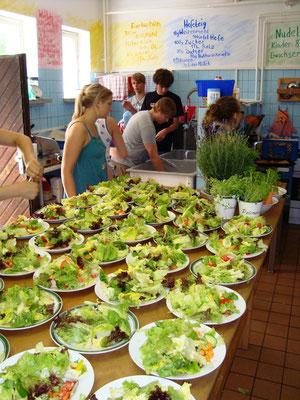 Seminar-Kochen gemeinsam mit den Teilnehmern