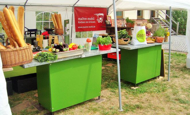 Unsere mobile Küche steht hier in Mönchberg und wartet auf die Hochzeitsgäste