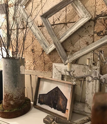 industrial farmhouse primitive tools mens architecture metal decor USA made in america frames country shabby chic magnolia farms chester new jersey local small business masculine mens windows spindles box antique vintage doors barn farm iron tin