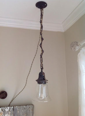 chandelier industrial lighting custom brass painted crystal antique chester new jersey metal accent wall hanging old refurbished design shabby chic farmhouse unique lighting inexpensive repurposed edison bulb industrial metal simple masculine