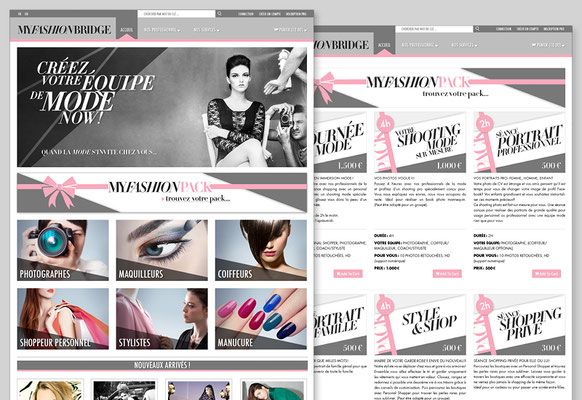 SURFACE DESIGN of the WEBSITE (adaptation & programming by NFQ)