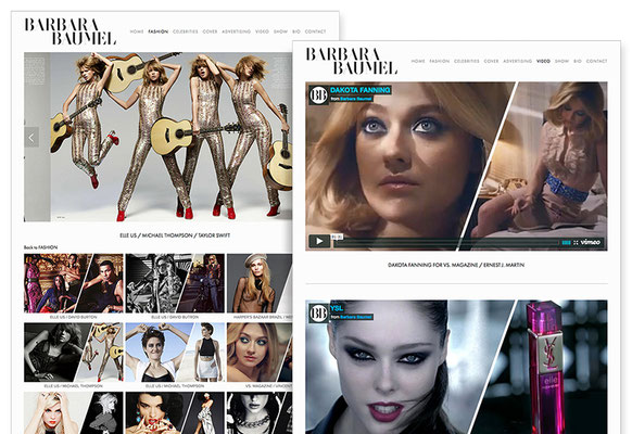 "PAGE ""FASHION"" (with view on top) & ""VIDEO"""
