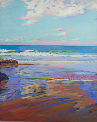 "Sunset in  ""The camel's beach"", Santander. 100 x 81 cm*"