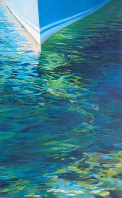 Remembering Siros. Acrylic on canvas. 81 x 130cm.