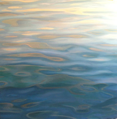 Reflections.Oil on canvas. 100 x 100cm. *