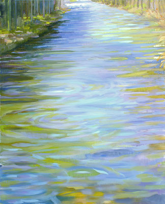 The river. Oil on canvas. 100 x 81cm. *
