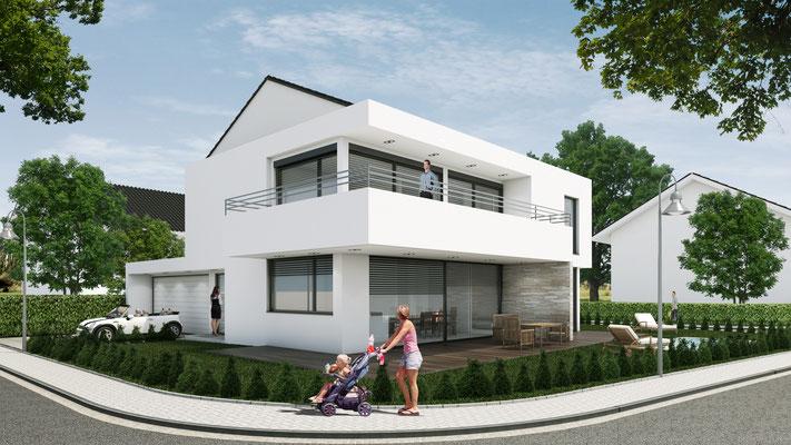 Entwurfsvisualisierung Einfamilienhaus
