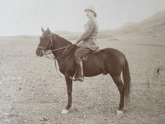 Mein Grossvater auf seinem Pferd