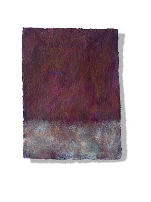 No.7 Gesteinsmehle, Pigmente auf handg. Bütten ca. 30x40