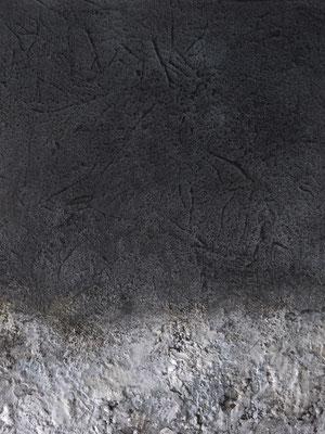 No. 5 Papier, Gesteinsmehle, Graphit auf Leinwand, 40x50