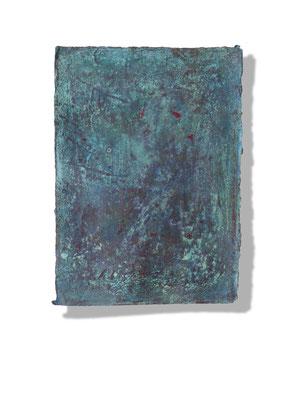 No.2 Gesteinsmehle, Pigmente auf handg. Bütten ca. 30x40