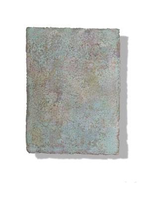 No.1 Gesteinsmehle, Pigmente auf handg. Bütten ca. 30x40