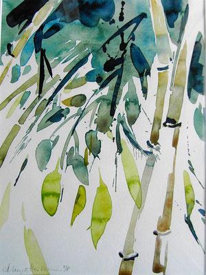 No. 5 Aquarell auf Papier, gerahmt 40cm x 50cm