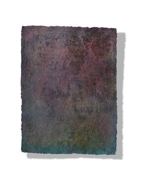 No.9 Gesteinsmehle, Pigmente auf handg. Bütten ca. 30x40
