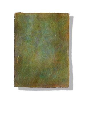 No.4 Gesteinsmehle, Pigmente auf handg. Bütten ca. 30x40