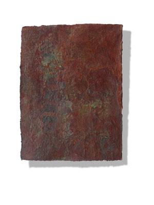 No.6 Gesteinsmehle, Pigmente auf handg. Bütten ca. 30x40