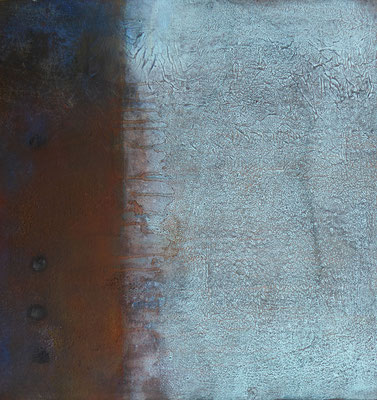 No. 10 Papier, Gesteinsmehle, Pigmente auf Leinwand, 60x60