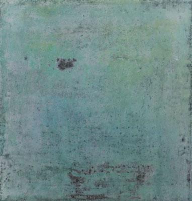 No.4 Gesteinsmehle, Papiere, Pigmente, Wachs auf Leinwand 20 x 20 cm