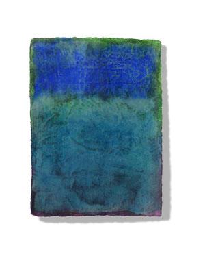 No.8 Gesteinsmehle, Pigmente auf handg. Bütten ca. 30x40