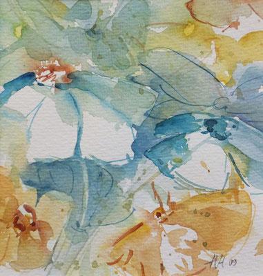 No. 4 Aquarell auf Papier, gerahmt 40cm x 50cm