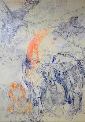 Act of faith, 200x140 cm, mixed media on canvas, 2013