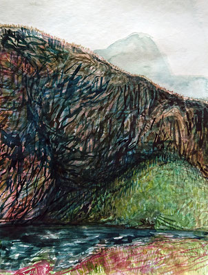 VA_15, watercolour on paper, 23x30,5 cm, 2020