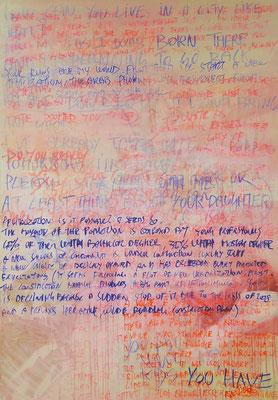 Untitled (Detroit), 200x140 cm, mixed media on canvas, 2013
