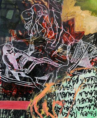 Ray, 46x38cm, mixed media on canvas, 2014