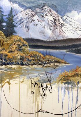 Pastorale 1, mixed media on canvas, 70x100cm, 2014