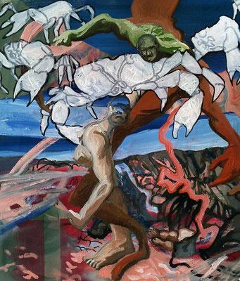 Apocalipse, 45x35cm circa, mixed media on canvas, 2015