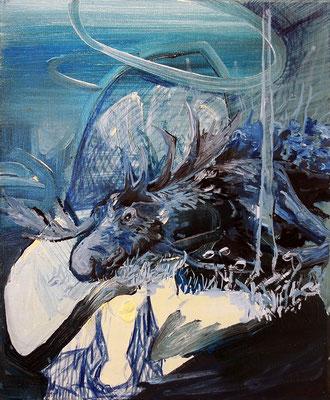 Lifelong hope, 46x38cm, mixed media on canvas, 2013
