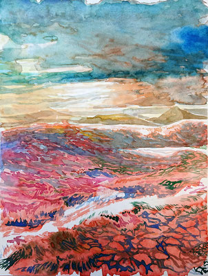 VA_8, watercolour on paper, 23x30,5 cm, 2020