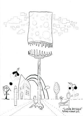 """Lumière Artificielle<BR><FONT size=""""1"""">29,7 x 21cm R.K. 2012</FONT><BR>"""
