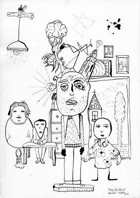 """Pose En Famille<BR><FONT size=""""1"""">29,7 x 21cm R.K. 2014</FONT><BR>"""