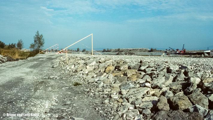 Linker Rheindamm, Erhöhung | 1988