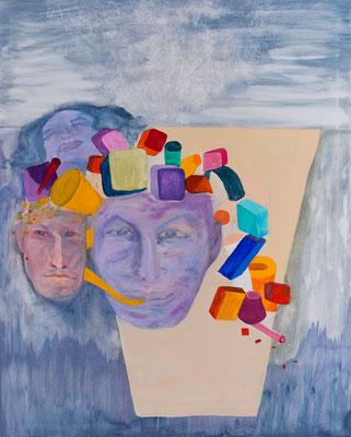 Gedankengang, 100x80cm, Acryl auf Leinwand